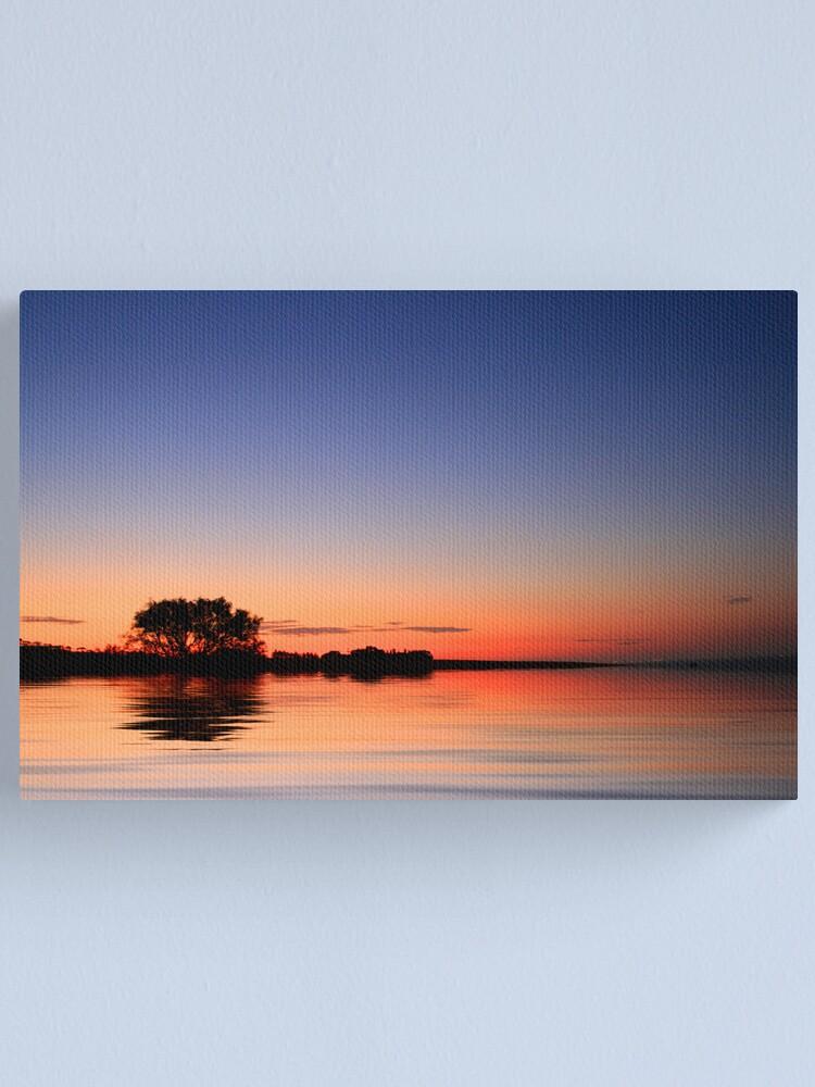 Alternate view of Sunset Port Arlington Canvas Print