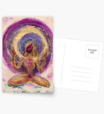 Abstract Enlightened Female Postcards