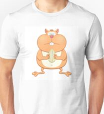 Funny cartoon hamster Unisex T-Shirt