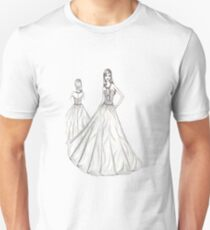 Woman Fashion Dress Sketch T-Shirt