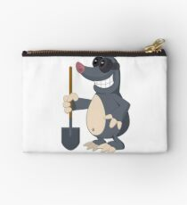Funny cartoon mole Studio Pouch