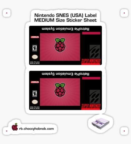 SNES Custom Cart Label - Raspberry [Get the MEDIUM size] Sticker