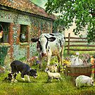 Barnyard Chatter  by Trudi's Images