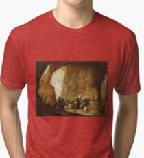 David Teniers The Younger - The Temptation Of St. Anthony Tri-blend T-Shirt
