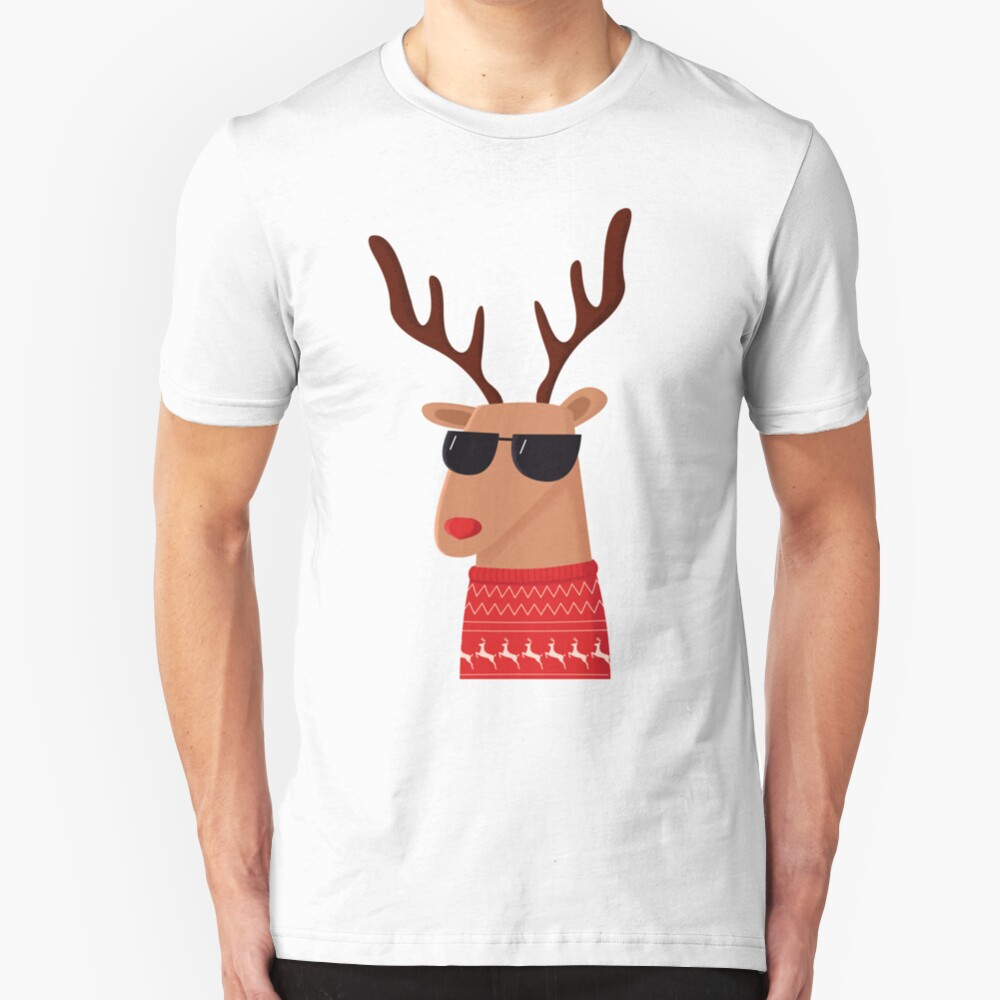Merry Christmas Dude! Slim Fit T-Shirt