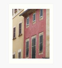 Old Spanish Town House Art Print