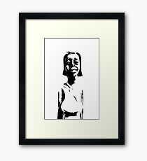 Old abstract statue Framed Print