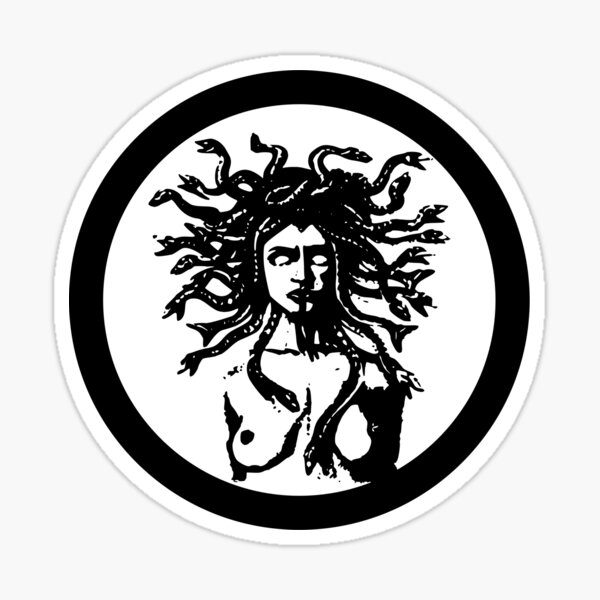 MEDUSA STATUE Sticker