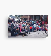 Entertaining the crowd Clunes Book Festival Victoria Canvas Print
