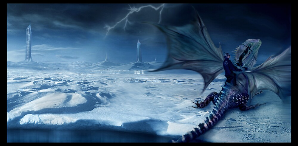 Dragon Rider 5 by Cliff Vestergaard