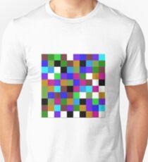 Random Colored Squares Unisex T-Shirt
