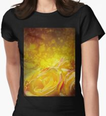 Yellow roses Women's Fitted T-Shirt