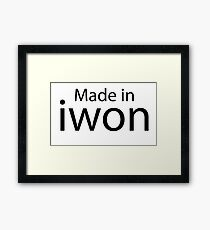 Funny Winner Looser - Winners Losers Black And White Spoof Company Logo Design Framed Print
