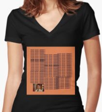 """Peep Show - """"Four Naan Jeremy?"""" Life of Pablo Cover Women's Fitted V-Neck T-Shirt"""