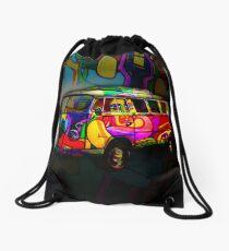 Hippie van Drawstring Bag