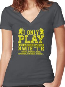 I Only Play Paintball On Days Beginning Women's Fitted V-Neck T-Shirt