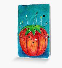 Tomato Pincushion Greeting Card