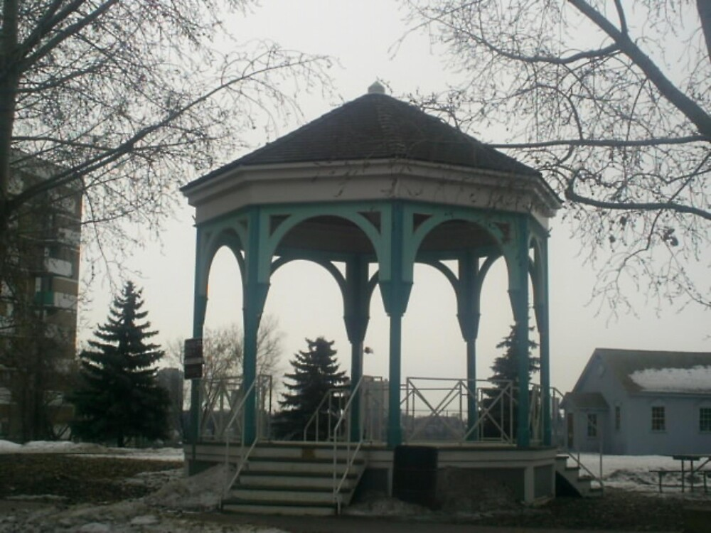 gazebo at the park by oilersfan11
