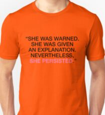 She Was Warned - Nevertheless She Persisted - Black - Pink Unisex T-Shirt