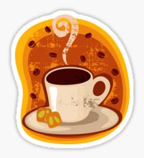 Coffee Time in Black Sticker