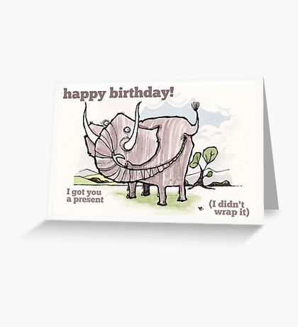 Elephant birthday card Greeting Card