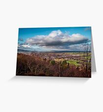 View over Otley Greeting Card