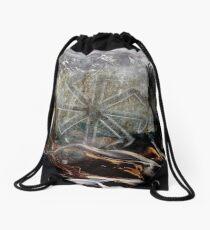 Slavic Sun Wheel Drawstring Bag