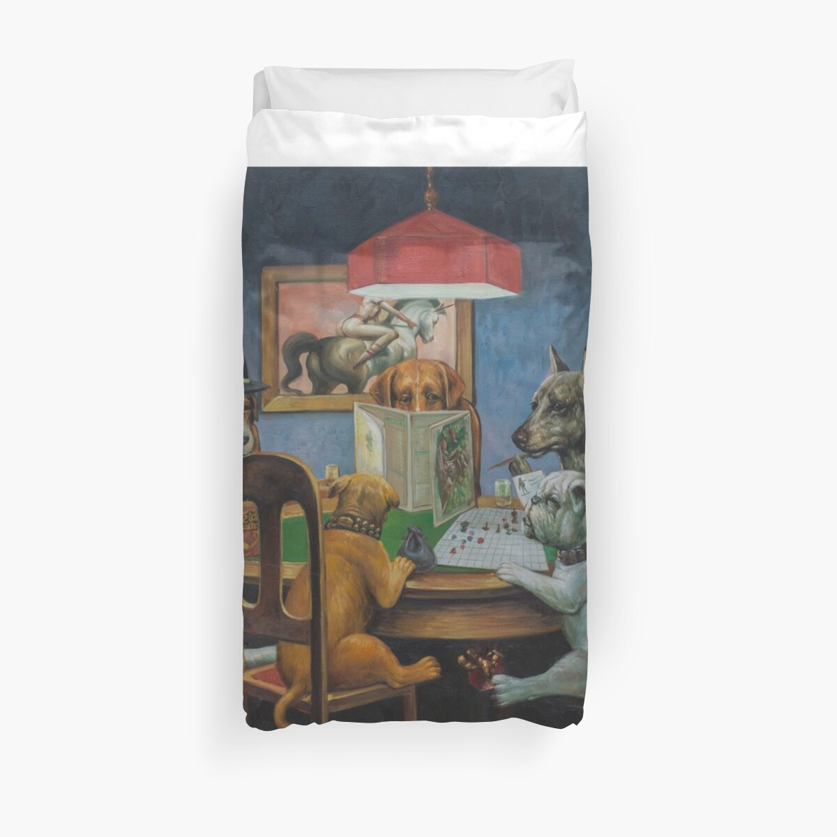 Quot Dogs Playing D Amp D Quot Duvet Covers By Johannes Grenzfurthner