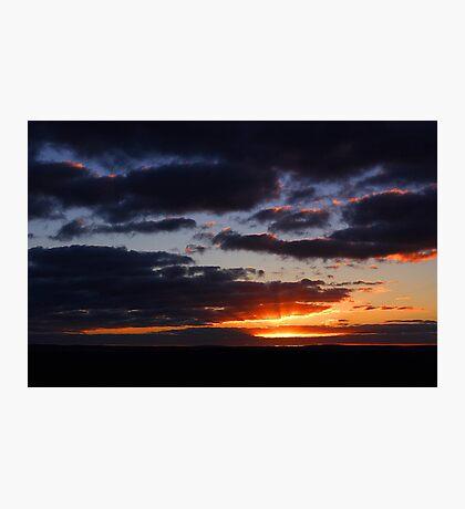 Crepuscular Rays At Sunrise  Photographic Print