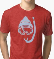 Snorkel deep powder snow Tri-blend T-Shirt