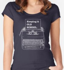 Keeping it old school Women's Fitted Scoop T-Shirt