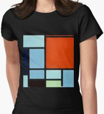Piet Mondrian Composition Womens Fitted T-Shirt