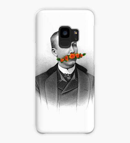 Vintage gentleman & Mustache with flowers Case/Skin for Samsung Galaxy