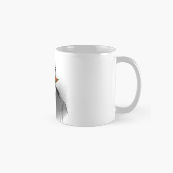 Vintage gentleman & Mustache with flowers Classic Mug