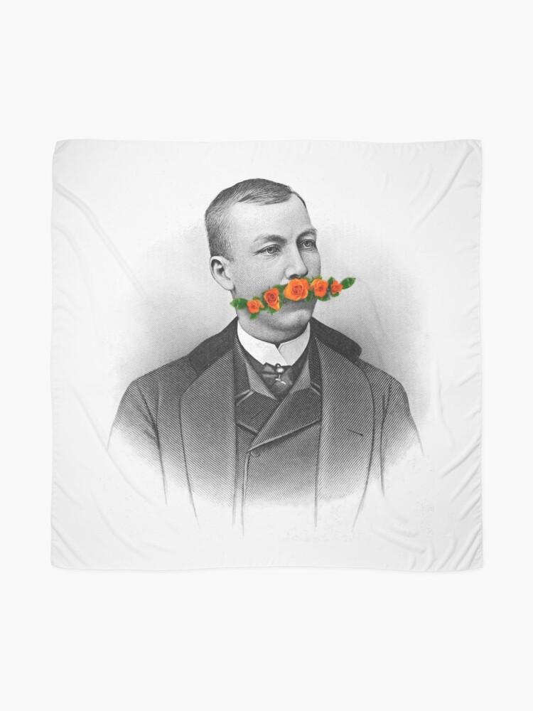 Alternate view of Vintage gentleman & Mustache with flowers Scarf