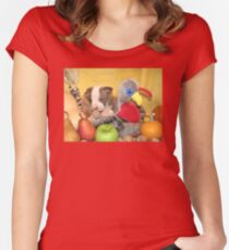 Thanksgiving (prints & cards w/words - all other items w/no words) Women's Fitted Scoop T-Shirt