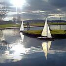 Aubery Boating Pond, Largs, North Ayrshire, Scotland by George Crawford