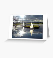 Aubery Boating Pond, Largs, North Ayrshire, Scotland Greeting Card