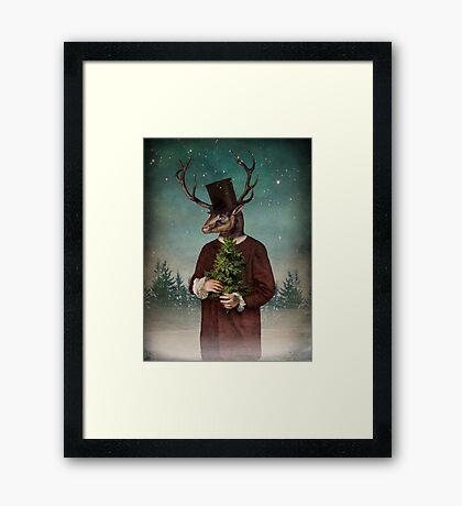 Mr Reindeer Framed Print
