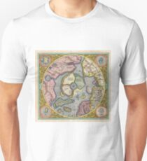 Antique Map - Mercator's North Pole (1606) Unisex T-Shirt