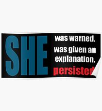 Nevertheless, she persisted. Poster