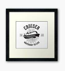 Cruiser - Waterway to Live Framed Print
