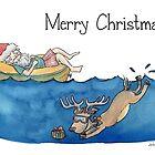 Christmas Australian Santa by Nicky Johnston