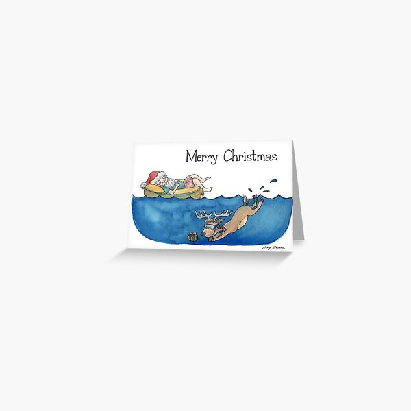 Christmas Australian Santa Greeting Card