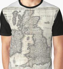 Antique Map - Blaeu's British Isles (1631) Graphic T-Shirt