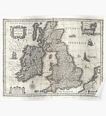Antique Map - Blaeu's British Isles (1631) Poster