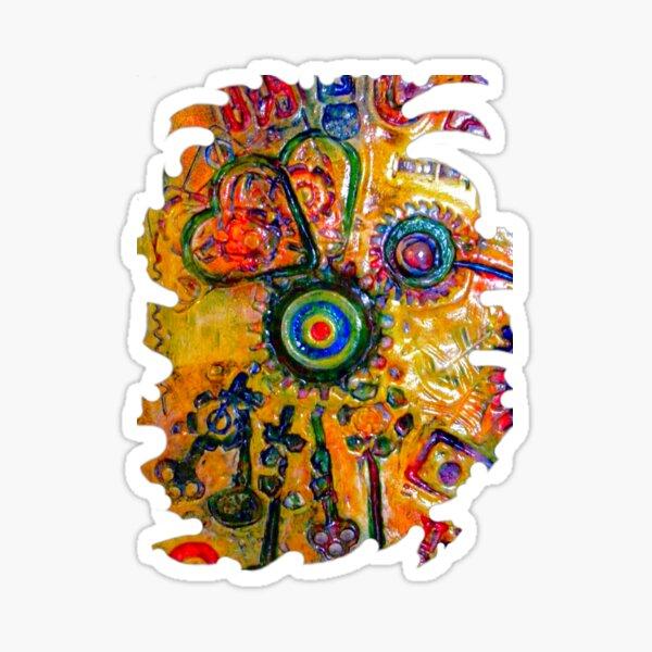 COLOURFUL STEAMPUNK HUMMINGBIRD Sticker