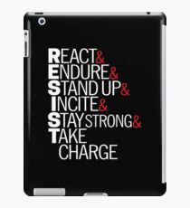 Resist Acronym T-Shirt iPad Case/Skin