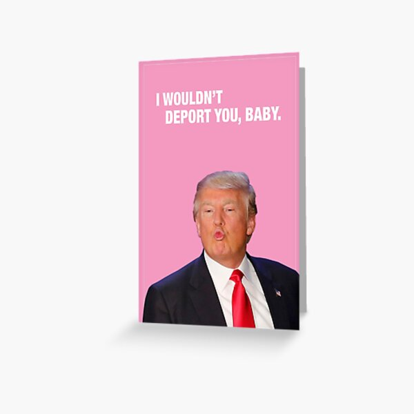 I Wouldn't Deport You, Baby - Trump Valentine Greeting Card