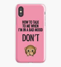 Don't Talk Emoji Monkey iPhone Case/Skin